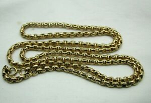 Lovely Quality Antique Heavy 9 carat Gold Diamond Cut Link Chain