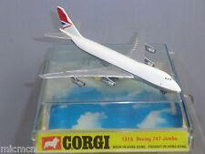 "VINTAGE CORGI TOYS MODEL No.1315/1 BOEING 747  ""JUMBO""  PASSENGER  AIRCRAFT MIB"
