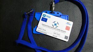 BULGARIA - Drone registration ID card PLASTIC drone permission + lanyard