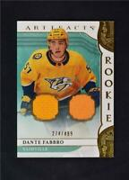 2019-20 UD Artifacts Base Gold Jersey Relic #166 Dante Fabbro /499
