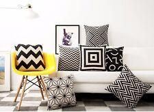 Nordic Geometric Zigzags Chevrons Squares Plus Cross Cushion Cover Pillow Case