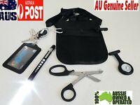 Medical Kit: nurse pouch + Penlight neuro torch+nurse watch + scissor +id Holder