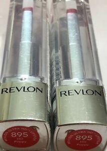 (2) Revlon Ultra HD Lipstick, 895 hd Poppy