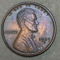 1929-S Lincoln Wheat Cent 1C - Gem Uncirculated - Colorful Toning