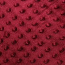 """Burgundy Minky Dot Cuddle Fabric - Sold By The Yard - 58""""/ 60"""""""