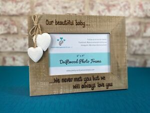 Baby Miscarriage Loss | Personalised Photo Frame Driftwood | Always Love You