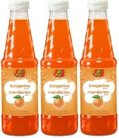 (3) Jelly Belly Tangerine Flavor Syrup For Snow Cone Ice Pop Treats 16 fl oz