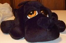 "Russ Plush GUNTHER black LAB dog floppy stuffed animal with big eyes  14"" long"
