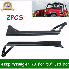 "Roof Mount Brackets For 52"" LED Truck Light Bar for JEEP YJ Wrangler 1987-1995"