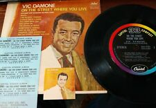 """Vic Damone Jukebox 7"""" Compact 33 Stereo Ep Capitol 2133 On The Street Mob Hits"""