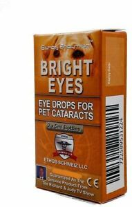 Cataract Eye Drops for Dogs and Pets Genuine Ethos Bright Eyes 1 Box 2 x 5ml