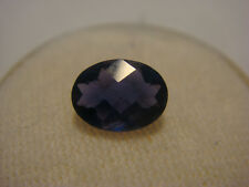 Iolite Oval Checkerboard Cut Gemstone 8 mm x 6 mm 1 carat Natural Gem