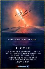 J COLE Forest Hills Drive Live Ltd Ed Hand Signed Poster +FREE Hip-Hop Poster!