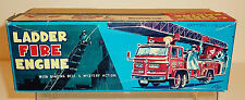 NOMURA TN Japan c. 1960 FIRE LADDER ENGINE TRUCK > BOX ONLY < 10.5 x 4.5 x 3.5""