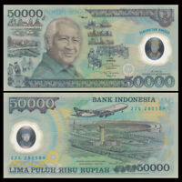 Indonesia 50000 Rupiah Banknote, 1993, P-134, 25th COMM. UNC, Asia Paper Money