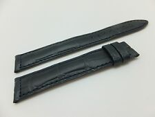 JAEGER LECOULTRE NAVY BLUE CROCO STRAP FOR BUCKLE 17 X 16 MM (NOS & ORIGINAL)
