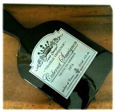 Black Chateau Vendange Cabernet Sauvignon Wine Label Cheese Plate Trivet NWT