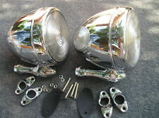 NEW CHROME PAIR OF VINTAGE STYLE DUMMY SPOT LIGHTS , CAR TRUCK !