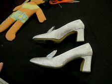 Fascinators silver vintage shoes pumps heels, sz. 6.5M