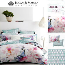 Logan and Mason JULIETTE ROSE QUEEN Size Bed Doona Duvet Quilt Cover Set