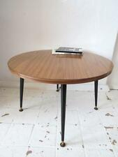 Vintage en Teck Table basse effet ou Mid Century Modernist table ronde