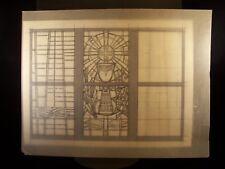 Chalice Stained Glass Window 1946-59 Original Pencil Sketch by C Schattauer Kelm