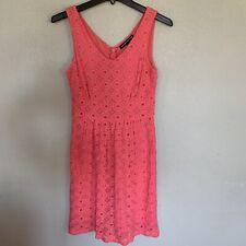 women's Dress Banana Republic madmen petite Sleeveless Orange Lined  Size 2p