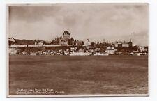 Ville de QUEBEC vue du Fleuve St Laurent QC Canada 1931 Garneau RPPC