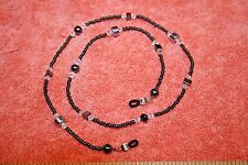 Dark Mirror Silver Color Beads Sunglasses Holder Necklace