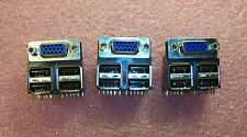 QTY (40) 15 POSITION HIGH DENSITY DSUB STACKED OVER (4X) USB TYPE A CONNECTORS