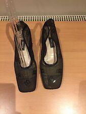 Bally Black Low Heels, Size 38, Uk 5 Gorgeous