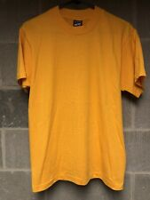 New listing Vintage T Shirt Blank Screen Stars 50 / 50 Yellow Medium Made In Usa 90s Nos