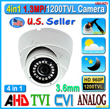 LEXAcctv 4in1 HD 1.3MP 960P 3.6mm TVI AHD CVI Analog Security Dome Metal Camera