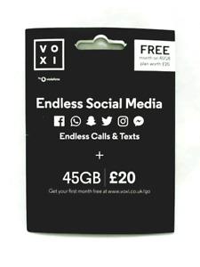 VOXI 45Gb plan worth £20