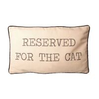 RESERVED FOR THE CAT CUSHION - CAT LOVER - GIFT - PET - CAT