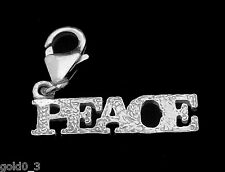 La pace charm argento 925 con Carabiner charmmakers 3D