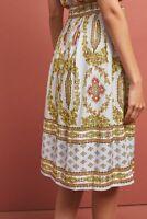 New Anthropologie Maeve Echarpe Skirt, Scarf Pattern Lilac, UK 8, RRP £98