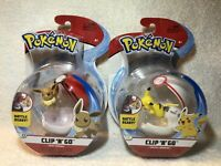Pokemon Clip 'N' Go Pikachu with Premier Ball And Eevee with Pokeball Brand New
