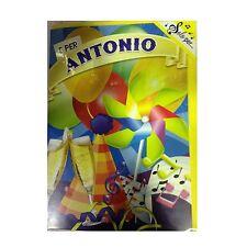 Tarjeta de cumpleaños musical genérico canta nome ANTONIO y FELIZ En TE