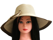 **SALE** BRAND NEW LADIES CASUAL PAPER STRAW SUMMER FLOPPY BIG BOW HAT