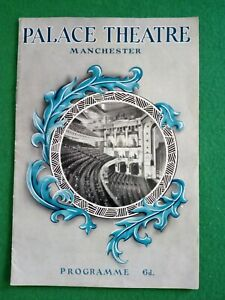PALACE THEATRE MANCHESTER PROGRAMME, NOVEMBER 12, 1956 - ANTONIO AND HIS BALLET
