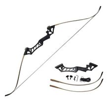 60lbs Hunting Archery Recurve Bow Takedown  Set 57'' Right Handed black ZLUK