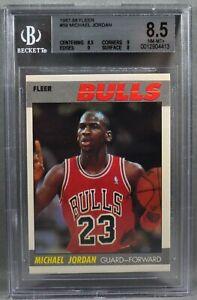 87-88 Fleer Michael Jordan BGS 8.5 NEAR MINT + 1987 1988 59 CHICAGO BULLS MVP
