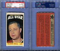 1964 1964-65 TOPPS #110 GLENN HALL ALL STAR LAST CARD IN SET PSA 6.5 (8384)