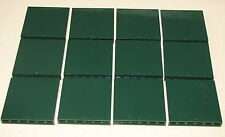 LEGO LOT OF 12 DARK GREEN 1 X 6 X 5 PANELS WALLS  FORT CASTLE  USED w/ scratches