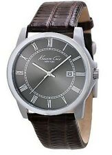 Kenneth Cole Brown Leather Men's Watch KC1923 NEW!  Low Intern. Shipping !
