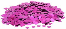 Hot Pink Fuschia Cerise Heart Wedding Table Confetti Decoration Sprinkles