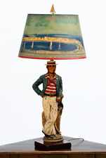 Vintage French Sailor Lamp Custom Painted Shade In The Style Of Raoul Dufy