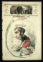 SAVON DE MARSEILLE ET LINGE SALE Caricature de 1869