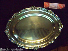 MASSIVE GORHAM SILVER ROCOCO DETAILS GRAND CARVE & SERVE FLAT MEAT SERVING TRAY